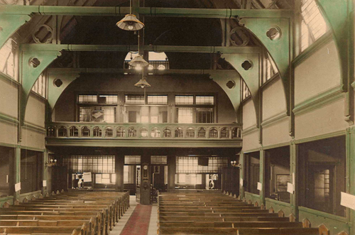 The interior of the 1888 Parish House
