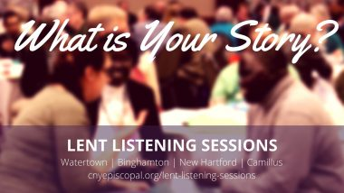 Lent Listening Sessions Scheduled