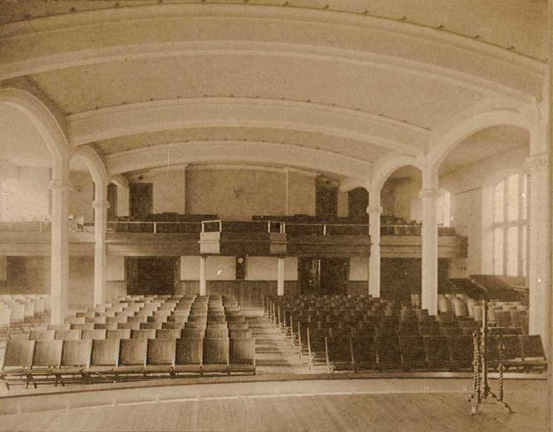 The Great Hall of Trinity's second Parish House, ca. 1914